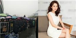 yan.vn - tin sao, ngôi sao - Ngàn người xếp hàng dưới mưa gây tắc nghẽn để được thấy Dương Mịch?