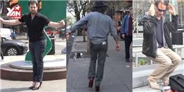 Bật cười trước thử thách mang giày cao gót trên phố của ba chàng trai