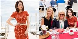 Lý Nhã Kỳ rạng rỡ mở tiệc chiêu đãi khách VIP tại Cannes