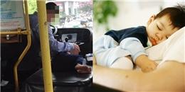 Điều cảm động sau bức ảnh cậu bé say ngủ bên vô lăng bác tài xế xe bus