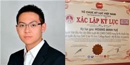 Chàng trai Việt lập kỉ lục điểm tuyệt đối kì thi xét tuyển đại học Mỹ