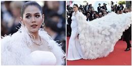 Cận cảnh đầm của bà bầu soán ngôi mỹ nhân Cannes của Phạm Băng Băng