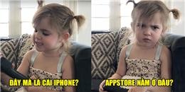 """""""Cười ngất"""" với cô bé tuyên bố mình là sếp, muốn có Iphone"""