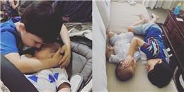 Thắt lòng cậu bé 3 tuổi vỗ về em trai bị ung thư giai đoạn cuối