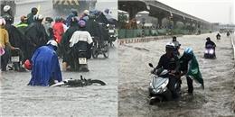 Sài Gòn mưa to nhiều giờ liền, các tuyến đường biến thành sông