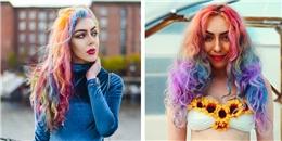 Nhờ 'mái tóc cầu vồng', cô gái trẻ vi vu khắp thế giới miễn phí