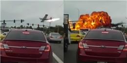 Mỹ: Máy bay rơi ngay trước mặt người qua đường sau khi cất cánh