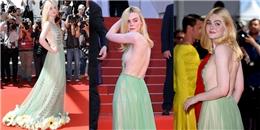 'Nàng tiên hoa' Elle Fanning thả rông đẹp 'rụng rời' ở Cannes