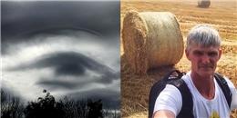 Kinh ngạc trước đám mây hình con mắt như đang theo dõi từ trên trời