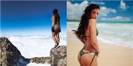 Cựu người mẫu Playboy nhận gạch đá vì khỏa thân trên đỉnh núi thiêng