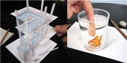Loạt tranh 3D sống động như thật dù chỉ được vẽ bằng bút chì