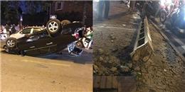 Hà Nội: Ô tô 'điên' gây tai nạn liên hoàn, nằm 'phơi bụng' giữa đường