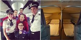 Bật mí thú vị về chỗ ngủ của các phi hành đoàn trên máy bay