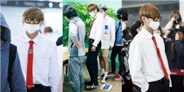 yan.vn - tin sao, ngôi sao - Thánh đồ hiệu V BTS tái xuất cực điển trai ở sân bay làm fan điên đảo