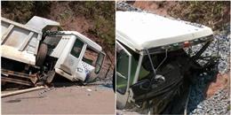 Để tránh một nhóm phượt thủ, tài xế xe tải buộc phải đâm vào vách đá?