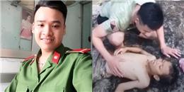 Chiến sĩ công an gây sốt khi cứu bé trai đuối nước qua cơn nguy kịch