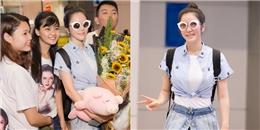 yan.vn - tin sao, ngôi sao - Lý Nhã Kỳ hạnh phúc trong vòng vây khán giả ở sân bay