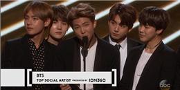 BTS là nhóm nhạc Hàn đầu tiên đạt giải tại Billboard Music Awards