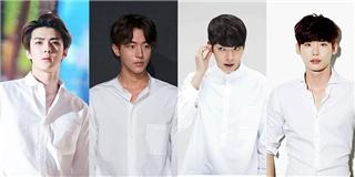 Vì sao các soái ca Hàn Quốc cứ muốn  đoạt hồn  fan bằng sơ mi trắng?
