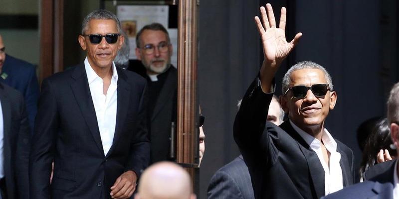 Soái ca Obama xuất hiện ngầu như diễn viên Hollywood tại Milan