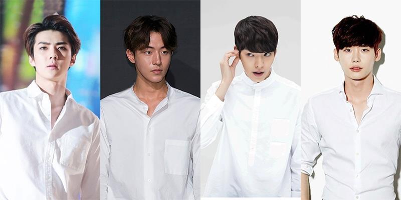 """Vì sao các soái ca Hàn Quốc cứ muốn """"đoạt hồn"""" fan bằng sơ mi trắng?"""