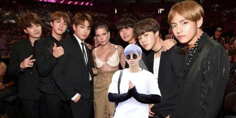 yan.vn - tin sao, ngôi sao - Nhờ fan photoshop ảnh chụp với Halsey, đây là cái kết của Rap Monster