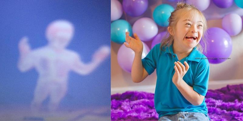 """Sửng sốt bé trai 7 tuổi bị Down chụp ảnh """"thiên thần hộ mệnh"""" của mình"""