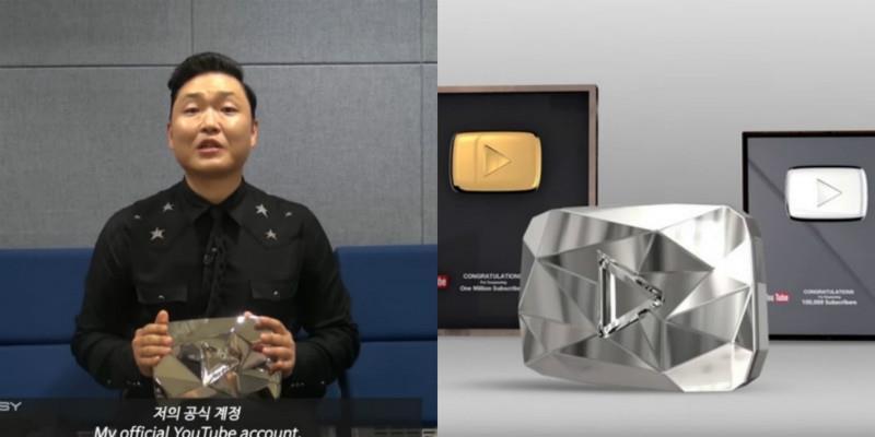 yan.vn - tin sao, ngôi sao - PSY trở thành nghệ sĩ châu Á đầu tiên nhận nút Kim Cương của Youtube
