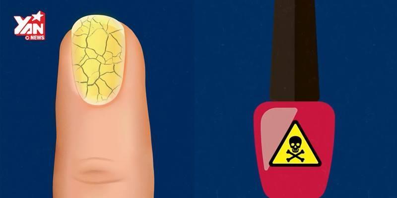 Điều gì sẽ xảy ra trong cơ thể sau khi bạn dùng sơn móng tay