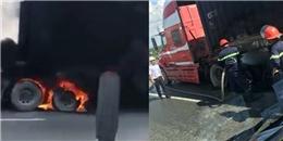 Ô tô tải bất ngờ bốc cháy dữ dội trên cao tốc Long Thành - Dầu Giây