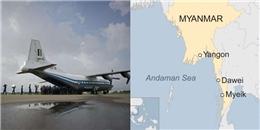 Máy bay hơn 100 người cả trẻ em của Myanmarrơi xuống biển mất tích