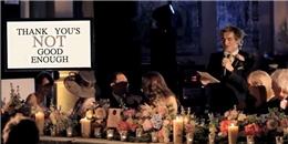 Bài phát biểu bằng âm nhạc của chú rể khiến cả đám cưới rơi lệ