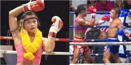 """Võ sĩ Muay Thai bị """"Hoa hồng gai"""" đấm sấp mặt vì coi thường """"phái nữ"""""""