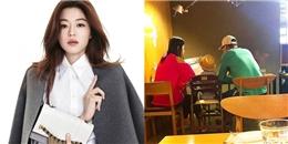 Giàu 'nứt vách', vợ chồng Jun Ji Hyun giản dị đi ăn quán bình dân