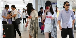 Lưu Khải Uy tới tận sân bay đón Dương Mịch về mừng sinh nhật con gái