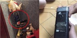 Chủ nhà trọ né tránh khi bị phát hiện có camera đặt trong chai dầu gội