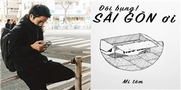 """Ngắm bộ tranh """"Đói bụng, Sài Gòn ơi"""" của du học sinh Việt Nam tại Nhật"""