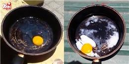 Dưới sức nóng 41 độ, sinh viên Hà Nội chiên trứng thành công