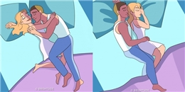Tư thế ngủ tiết lộ mức độ mặn nồng của cặp đôi
