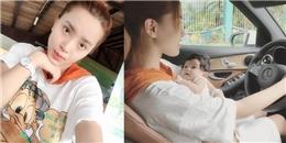yan.vn - tin sao, ngôi sao - Hải Băng gây sốc khi vừa bế con gái vừa lái xe hơi
