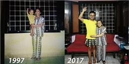 Bức ảnh cháu và bà 20 năm vẫn mặc đồ cũ gây xúc động