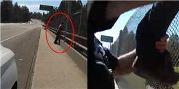 Xử lí tài tình, 2 cảnh sát cứu lấy tính mạng của người tự tử