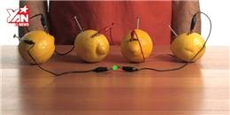 Làm pin từ chanh thắp sáng đèn LED? Không khó chút nào!