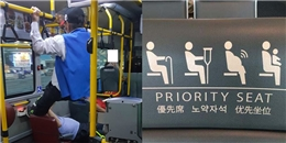 Không nhường ghế ưu tiên, cậu trai trẻ bị cụ ông 'tung cước' vào mặt