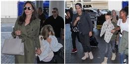 Angelina Jolie gây tranh cãi khi đưa con đi du lịch ngay Ngày Của Cha