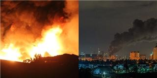 Loạt ảnh khủng khiếp về đám cháy lớn ở quận 4 TP HCM