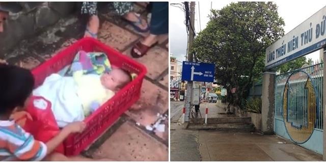 Rơi nước mắt nhìn cảnh hai bé trai bị mẹ bỏ rơi trước làng thiếu nhi
