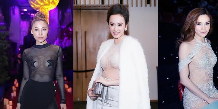 """Xem mặt 5 mỹ nhân Việt gây bão với mốt váy áo """"mặc cũng như không"""""""