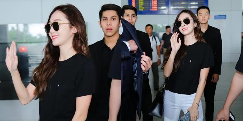 """Độc quyền: Jessica đẹp """"mê mệt"""" vẫy chào người hâm mộ Việt Nam"""