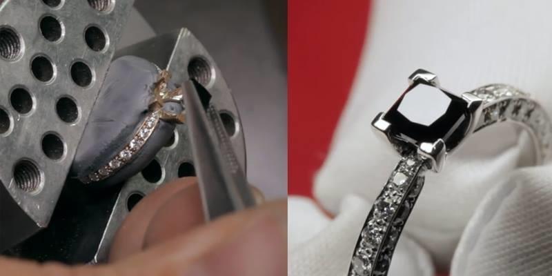 Không ngờ có thể chế tác nhẫn kim cương đen bằng cách đơn giản đến thế